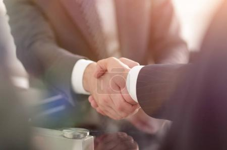 Photo for Closeup.handshake of business partners after signing the contract. - Royalty Free Image