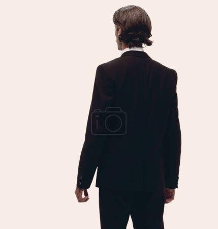 rear view.a modern businessman.