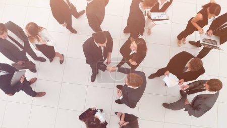 Handshake between competitors before the start of business negot