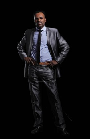 Handsome African-American businessman