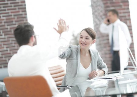 business partners starting a new project