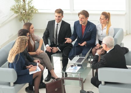 Photo for Business team discussing a new go in the conference room.photo with copy space. - Royalty Free Image