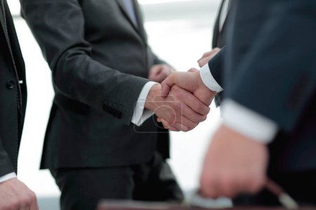 closeup.handshake of business partners.