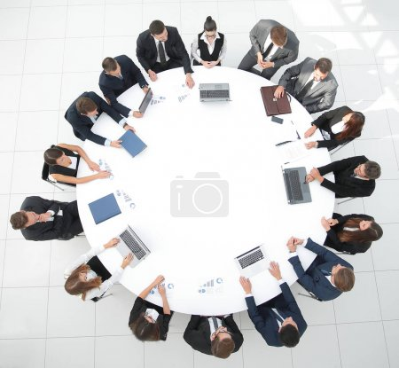 Photo for Meeting of shareholders of the company at the round - table.the concept of business meetings - Royalty Free Image