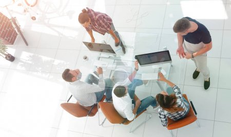Photo for Top view of group of business people.photo with copy space - Royalty Free Image