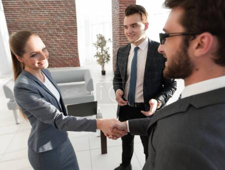 business concept.handshake Manager and client