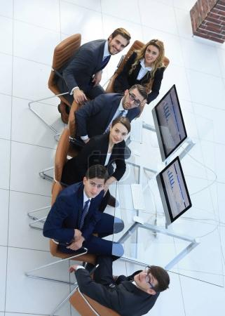 Photo for View from the top.the business team during business hours.office life - Royalty Free Image
