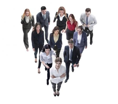 Photo for Large group of business people. Over white background - Royalty Free Image