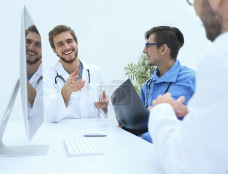 group of doctors at a working meeting