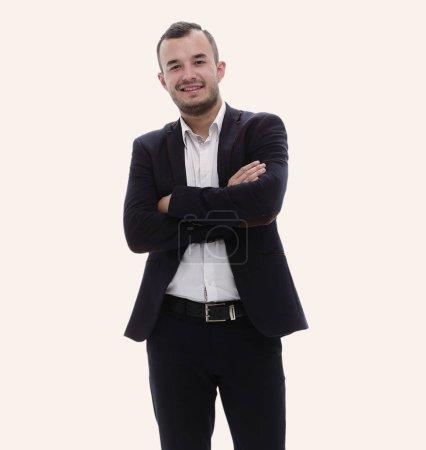 Photo pour Portrait d'un homme d'affaires prospère isolé sur fond blanc . - image libre de droit