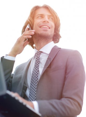 closeup.successful businessman talking on the phone