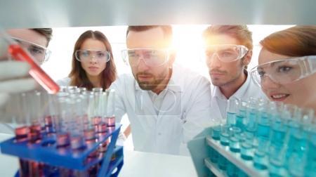 Photo pour Groupe de scientifiques et de pharmaciens travaillant dans le laboratoire.photo avec espace de copie - image libre de droit
