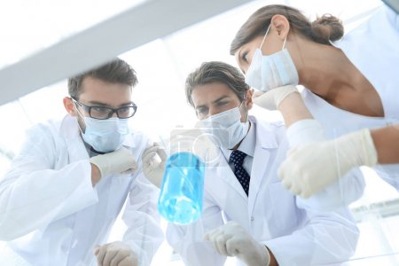 Medical researcher microbiology experiment in the laboratory
