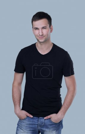 Photo for Confident young male model in casual clothes isolated - Royalty Free Image