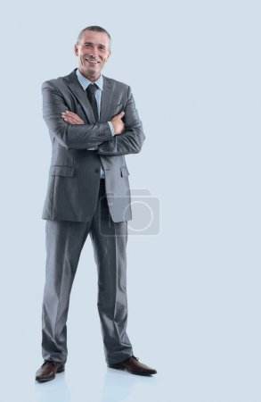 Photo for In full growth. portrait of modern business man.isolated on white background - Royalty Free Image