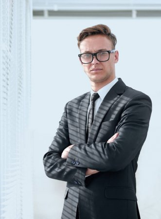 portrait of serious businessman with glasses