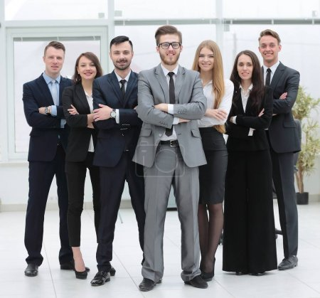 Photo for Successful business team headed by project managers - Royalty Free Image