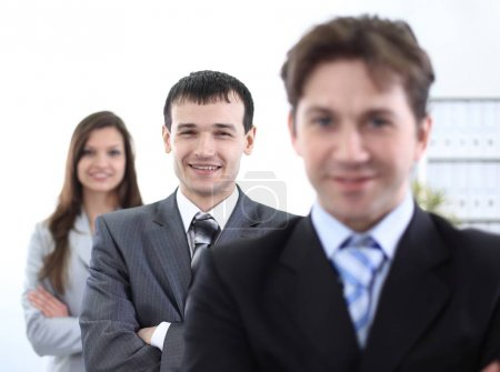 Photo pour Succès en affaires : équipe d'affaires professionnelle - image libre de droit