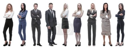 Photo for Large group of business people. Isolated over white. - Royalty Free Image