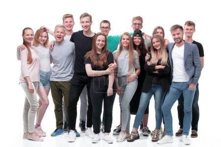 Photo pour En pleine croissance. un groupe de jeunes confiants. isolé sur fond blanc - image libre de droit