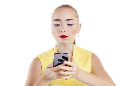Make Up. Beautiful blonde woman