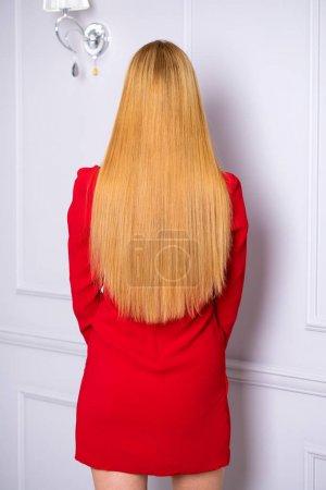 Female Long wavy blonde hair