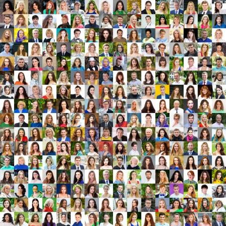 Photo for Collection of different caucasian women and men ranging from 18 to 50 years - Royalty Free Image