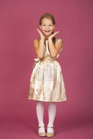 Beautiful blonde little girl