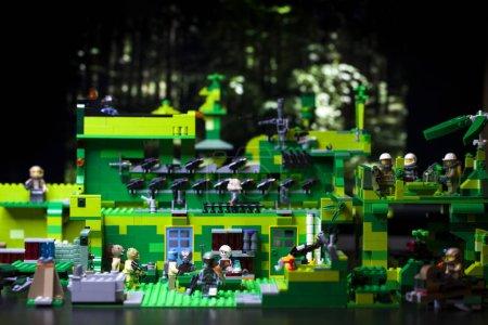 RUSSIAN, April 03, 2018. Constructor Lego Star Wars. Secret base