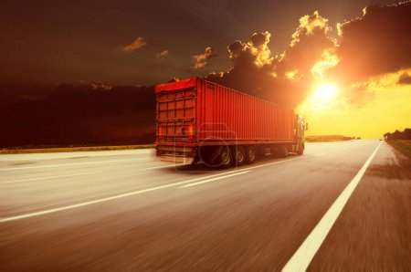 Truck on the countryside road