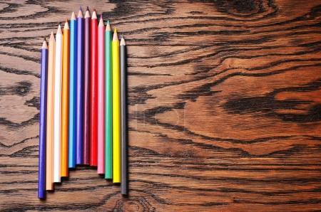 Color pencils ontable