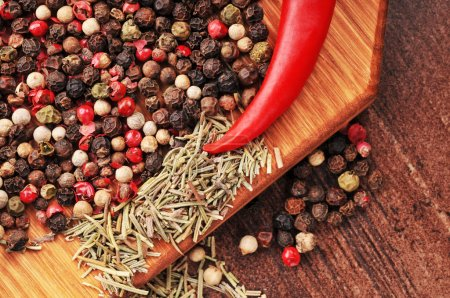 Hot pepper with peppercorns