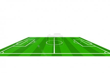 Plan of the soccer game on field