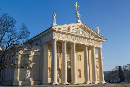 Side view of the cathedral in Vilnius, Lithuania