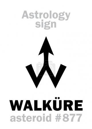 Astrology Alphabet: WALKURE (Valkyrie), asteroid #...