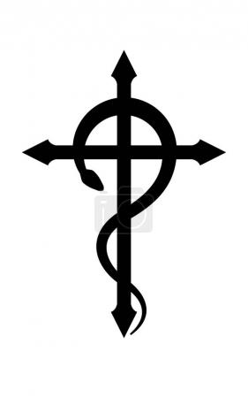 CRUX SERPENTINES (The Serpent Cross). Mystical sig...