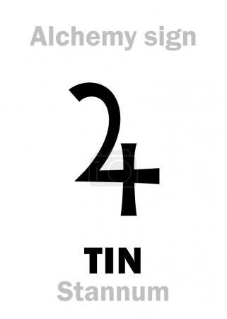 Alchemy Alphabet: TIN (Stannum, Plumbum album), on...
