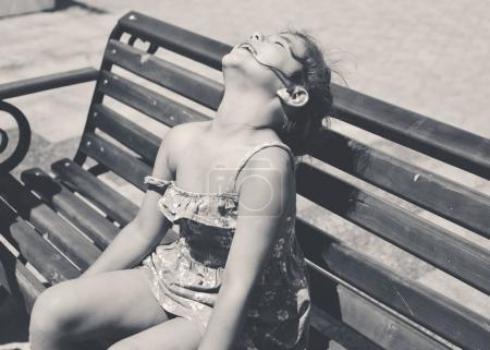 enjoying of the sun