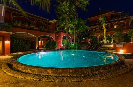 Pool in hotel on island Bali Indonesia