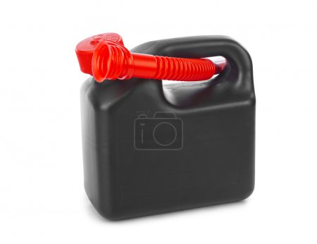 Plastic jerrycan isolated on white background