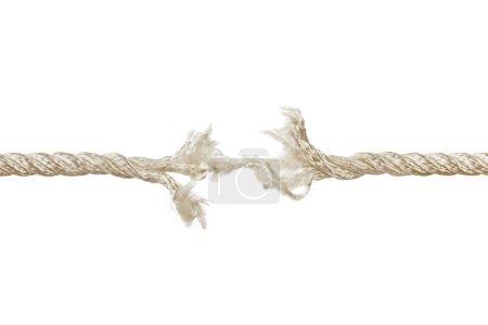 Photo pour Câble de rupture isolé sur fond blanc - image libre de droit