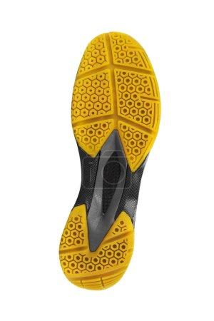 Photo pour Bas de la chaussure de sport isolé sur fond blanc - image libre de droit