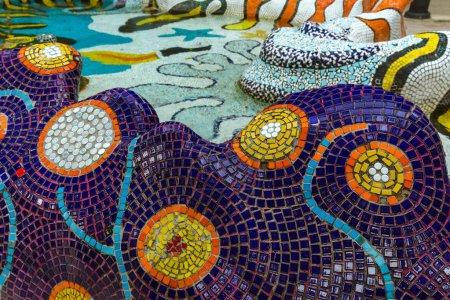 Mosaic pattern - Sentosa Singapore