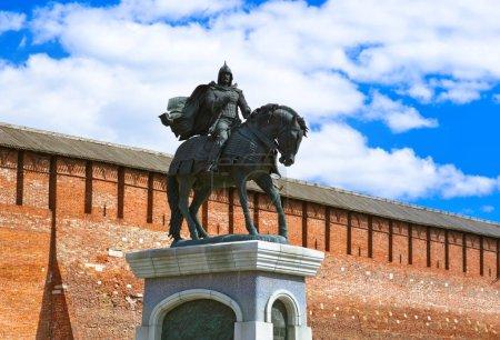 The monument to Dmitry Donskoy in Kolomna Kremlin in Moscow regi