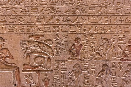 Photo for Old egypt scriptures - archeology background - Royalty Free Image