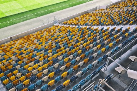 Lots of seats on the stadium