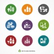 Garbage waste recycling icons, line round symbols ...
