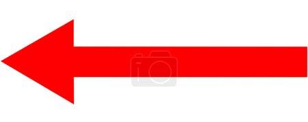 Photo pour Flèche rouge isolée sur fond blanc - image libre de droit