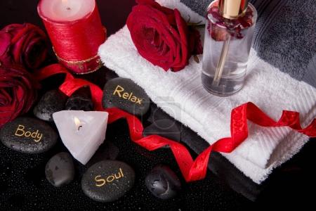 Wellness decoration, Spa concept in Valentines Day