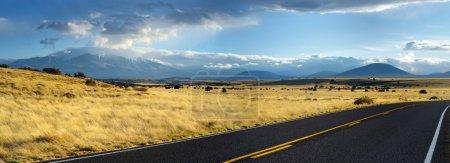 Endless wavy road in Arizona desert